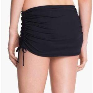La Blanca Swim - La Blanca Skirted Ruched Bikini Bottom Black